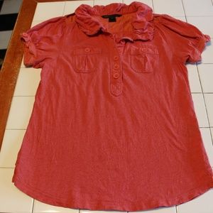 MARC BY MARC JACOBS WOMENS SALMON BLOUSE SIZE L